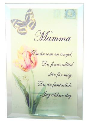 Värmeljushållare med text - Mamma, ängel